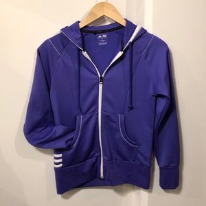 Purple Adidas Zip Up